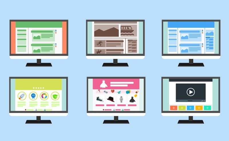 色々なデザインのホームページ