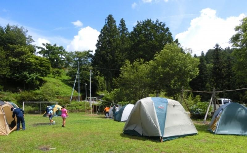 真夏のキャンプ場