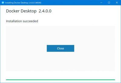 Docker Desktopインストール完了